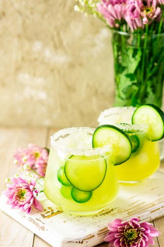 Cucumber-Jalapeño Margarita With Fresh Ginger