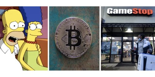 A 'Simpsons' episode comically predicts bitcoin's price will surge to infinity - and GameStop's stock will fluctuate ridiculously in the future