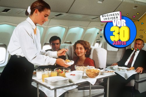 Fingerfood wie auf einer Dinnerparty und Rauchen an Bord: Ein Pilot erzählt, warum Fliegen vor 30 Jahren noch etwas Besonderes war