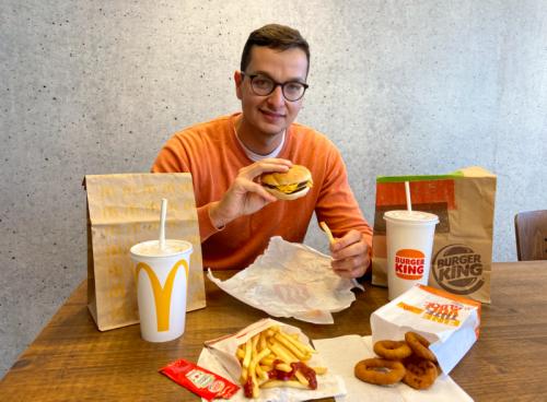 Ich war für 10 Euro bei McDonald's und Burger King um zu sehen, wo ich mehr für mein Geld bekomme