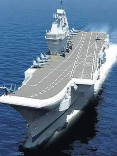 India's first indigenous aircraft carrier INS Vikrant set sail from Kochi for its second sea trial