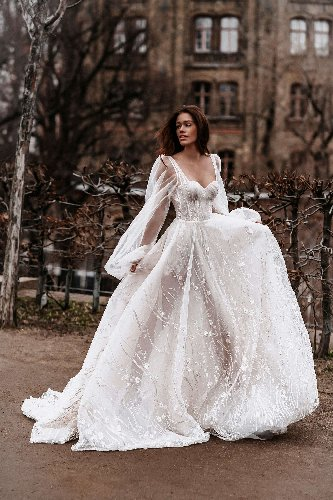 A wedding-dress designer says brides are getting more creative with their gowns as a result of the pandemic