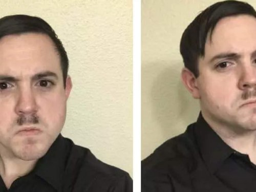 A Capitol rioter with a 'Hitler mustache' was booted from the Army Reserves