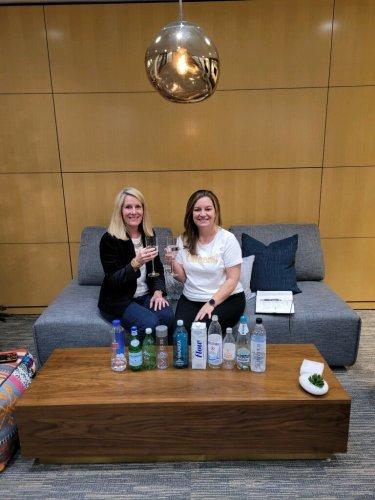 Christine Hilgert and Cori Bokath with H2U Fine Water