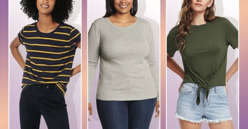 If You're Petite, These Super Comfy T-Shirts Will Hit Just Right