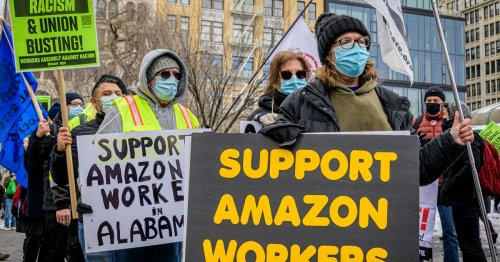 Amazon issues 'Vote No' pamphlets to workers ahead of union drive