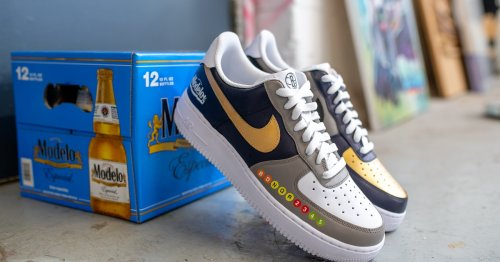 If you love Nike and beer, these custom 'Modelo' sneakers are for you