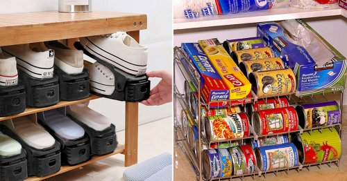 You Can Fit 10x More Crap In Your Closets & Cabinets With These 38 Genius Things