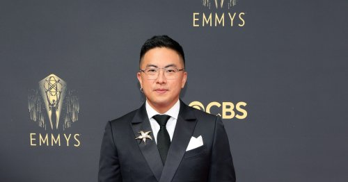 'SNL' Star Bowen Yang Wore Silver Platform Boots To The 2021 Emmys