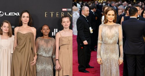 Angelina Jolie's Daughter Zahara Wore Her 2014 Oscars Dress To The 'Eternals' Premiere