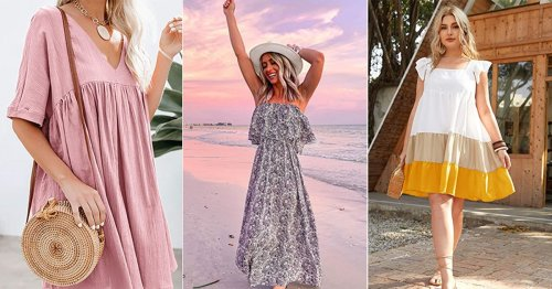 These 44 Stylish, Comfy Dresses Don't Cling To Your Body & Are Under $35 On Amazon