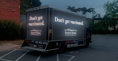 Fake funeral home's anti-vaxx ad redirects to vaccine registration site