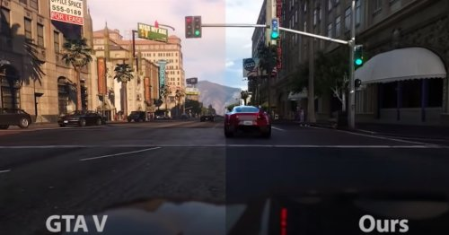 Intel's new AI makes GTA look a lot like real life