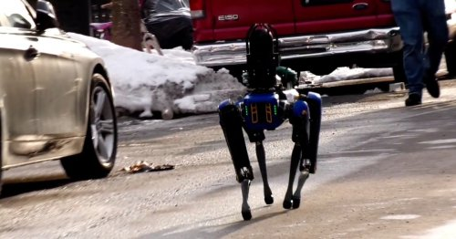 Great. NYPD's robot dog is now trotting around in the Bronx.