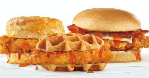 The New Hot Honey Chicken Sandwiches At Hardee's & Carl's Jr. Bring Sweet Heat