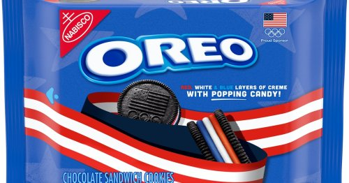Nabisco Is Launching Red, White, & Blue Oreos Filled With Popping Candy This Summer