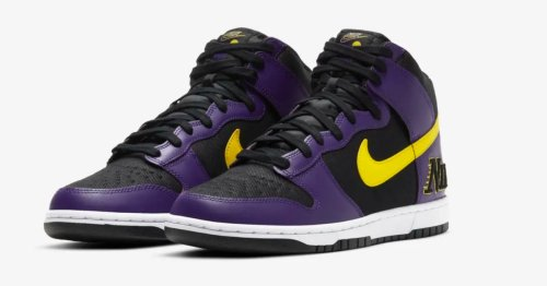 Nike's 'Court Purple' Dunk High sneaker is a must-have for Lakers fans