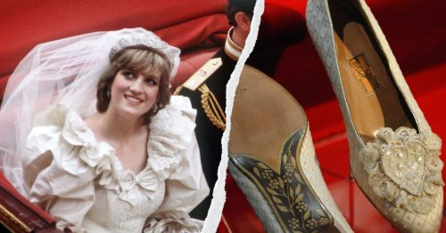 Princess Diana Had The Sweetest Secret Engraving Added To Her Wedding Shoes