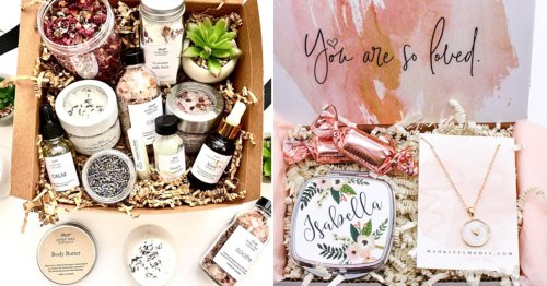 12 Mother's Day Gift Boxes On Etsy For $25 & Under Mom Can Use To Treat Herself