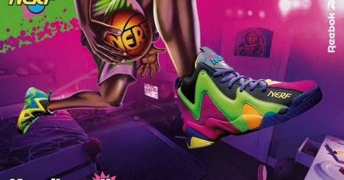 Reebok's NERF sneakers are a so bright, so colorful, and so amazing