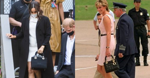 Meghan Markle Carries A Custom Version of Princess Diana's Beloved Dior Bag
