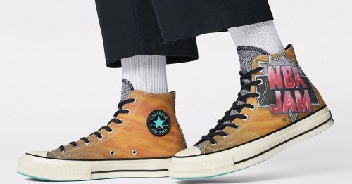 Converse's 'NBA Jam' sneakers are as hot as the classic '90s video game