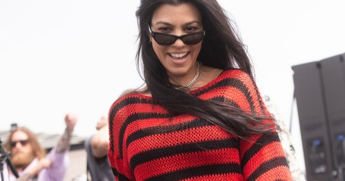 Kourtney Kardashian Wore A Very Pop-Punk Look For Travis Barker's Latest Gig
