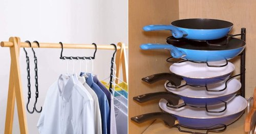 If Your Closets & Cabinets Feel Small AF, These 39 Tricks Instantly Make Them Way Bigger
