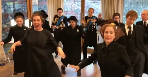 You Haven't Lived Until You've Seen 'The Crown' Cast Dance To Lizzo In Their Period Costumes