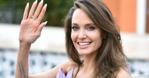 Angelina Jolie Wore This Classic Dress Out To Dinner With Her Kids