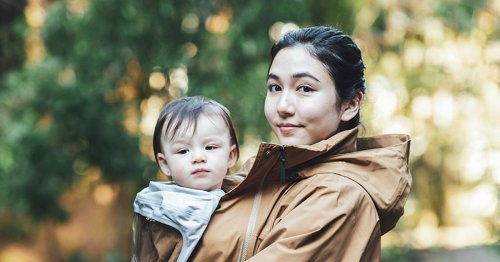 The North Face made the perfect raincoat to carry your baby in