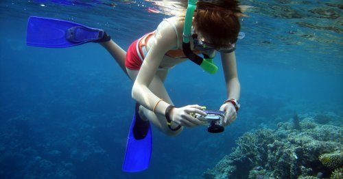 This $17 Waterproof Camera Takes Crisp, Clear Underwater Photos — & It's On Amazon