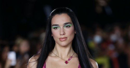 Dua Lipa Just Walked The Versace Runway In The Ultimate Party Outfit
