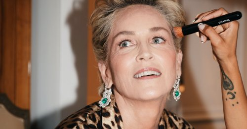 Behind the Scenes With Sharon Stone at Her First-Ever Met Gala
