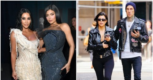 Kim & Kylie Had The Best Reaction To Kourtney's Massive Engagement Ring