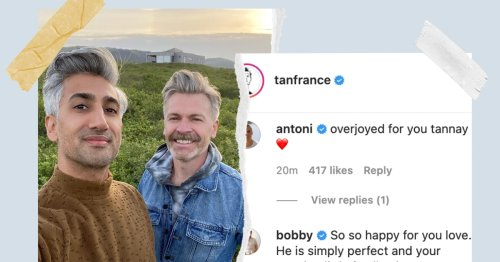 Tan France & Husband Rob Welcome Their First Baby & The 'Queer Eye' Cast Is In Love