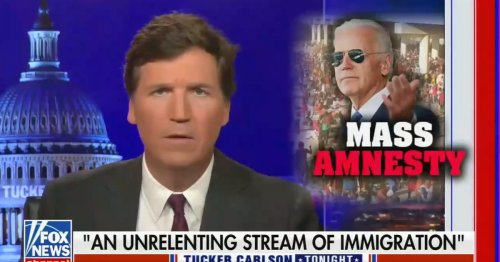 Tucker Carlson is now spouting the talking points of racist mass murderers
