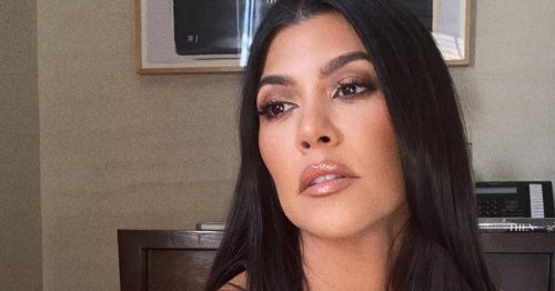 Kourtney Kardashian Continues To Explore Her Edgy Side With A Black French Mani
