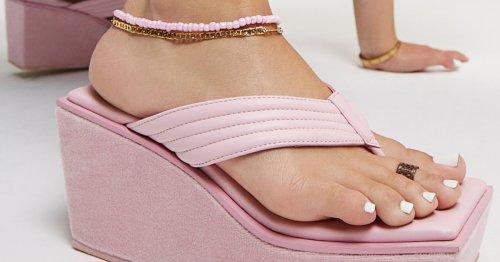 Frankies Bikinis' New Shoes Include A Y2K-Inspired Platform Flip-Flop