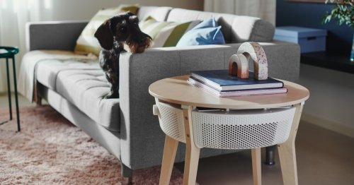 Ikea's new smart air purifier doubles as a side table