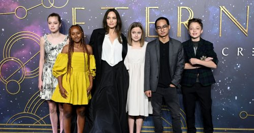 Angelina Jolie Continues the Eternals Premiere Circuit with Another Show-Stopping Gown
