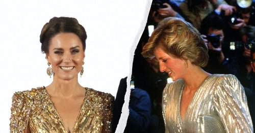 Kate Middleton Channeled Diana & Daenerys Targaryen In A Gold Cape Dress