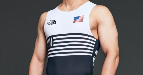 The North Face's Olympic climbing uniforms look like wrestling unitards