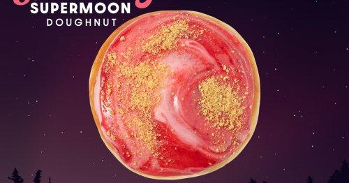 Krispy Kreme Is Selling A Doughnut That Looks like A Strawberry Supermoon
