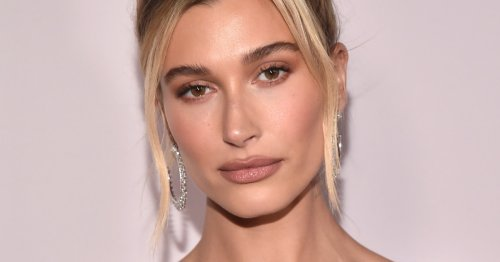 Hailey Bieber's Rainbow Eyeliner Is The Most Colorful Thing You'll See Today