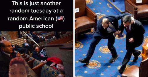 Students Are Using Photos Of Congress In Lockdown To Make An Important Point About School Shootings