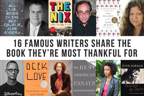 16 Famous Writers Told Us About The Book They're Most Thankful For