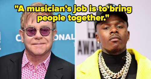 """Elton John Responded To """"HIV Misinformation"""" And Anti-Gay Comments Made By DaBaby"""