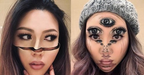 This Artist Creates Mind-Blowing Optical Illusions Using Makeup