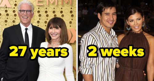 21 Celebrity Couples That Have Made Their Marriages Work For Over 20 Years And 15 That Couldn't Make It Through The First Year